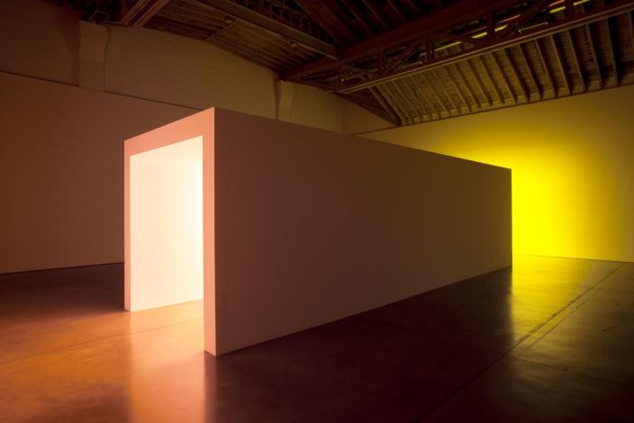 Installation view 1, Dan Flavin, September 10 – October 30, 2010