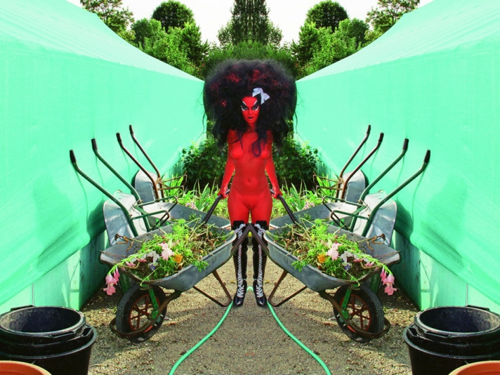E.V. Day and Kembra Pfahler Bring Monet's Giverny To The Hole Gallery