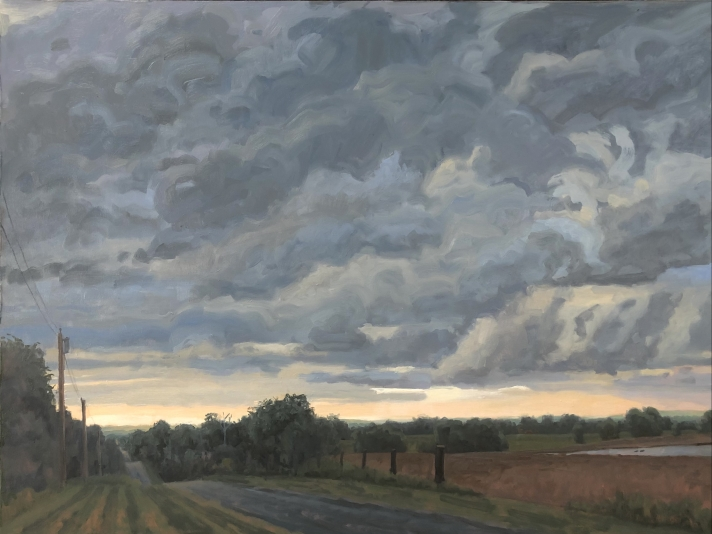 Max Mason, Approaching Storm, Saline County, Oil On Canvas