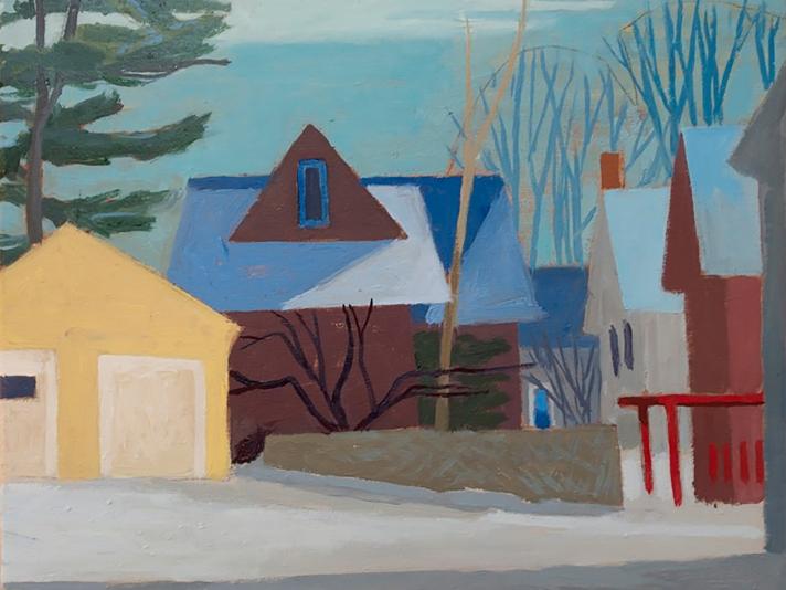 S Roy Street, Celia Reisman, Oil On Canvas