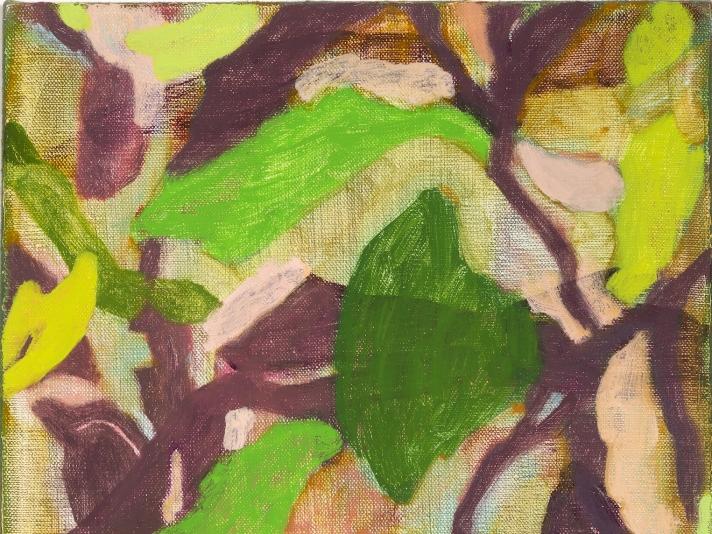 Rebecca Callaghan, Dye Leaves, 14 x 11