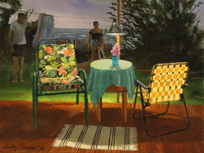 Larry Francis, Evening, 12 x 16, Oil On Canvas