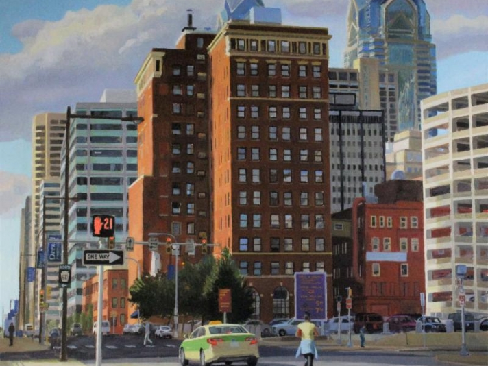 Larry Francis, City Streets, Oil On Canvas