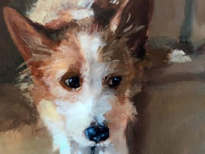 """Christina Leone, Squirrel, 8"""" x 10"""", Oil On Canvas"""