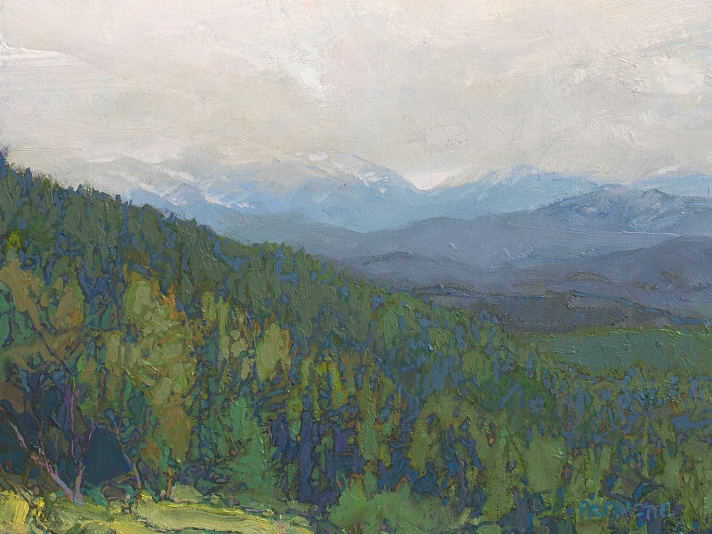 Cloud Hidden, Yellowstone, Thomas Paquette, Oil On Canvas