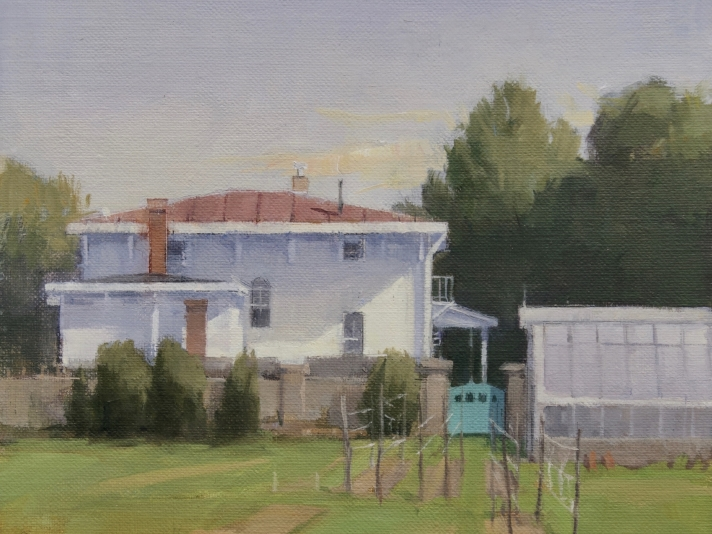 "Parrish Garden  8"" x 8""  Oil On Panel"