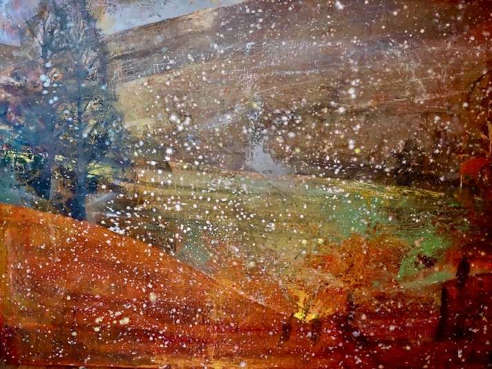 Perky Edgerton, First Snow, Oil On Canvas