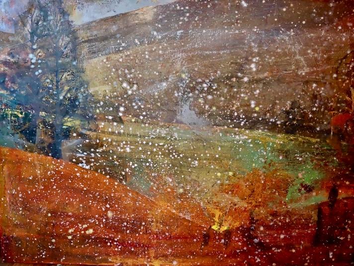 Perky Edgerton, First Snow, Oil On Canvas