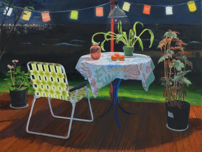 Larry Francis, Night Still Life, Oil On Canvas