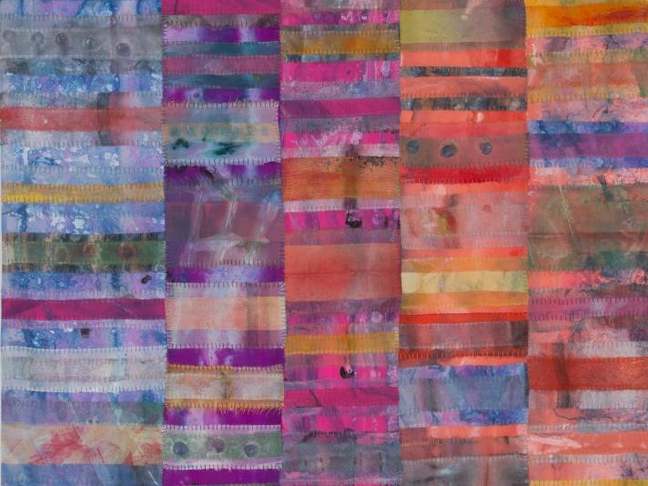 Emily Richardson, Acrylic And Thread On Silk