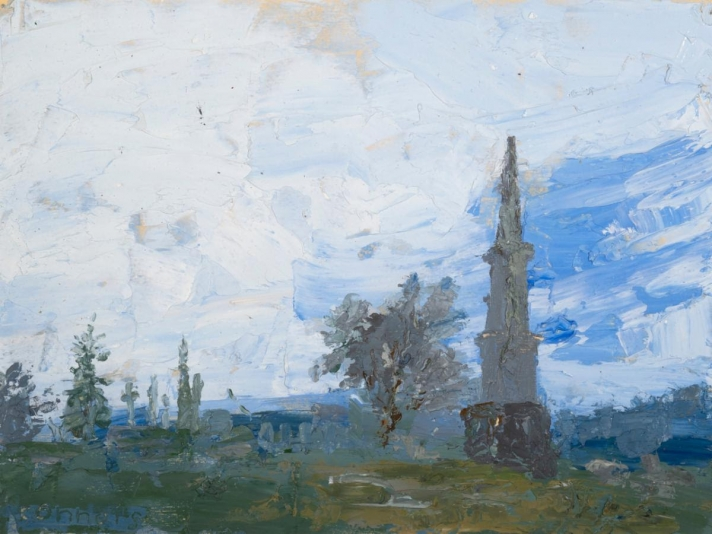 Patrick Connors, West Laurel Hill, Oil On Canvas