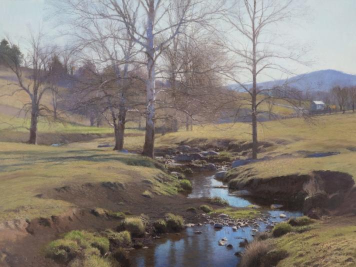 Swover Creek, Oil On Canvas, Ann Lofquist