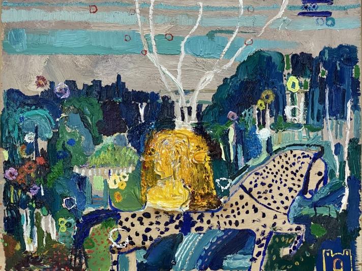 Bethann Parker, Strawman, Oil On Panel