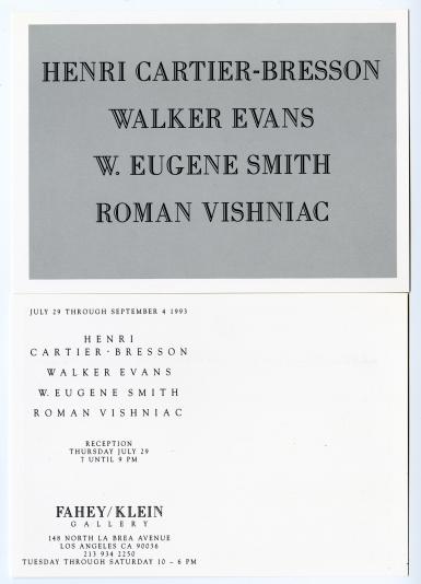Henri Cartier-Bresson / Walker Evans / W.Eugene Smith / Roman Vishniac