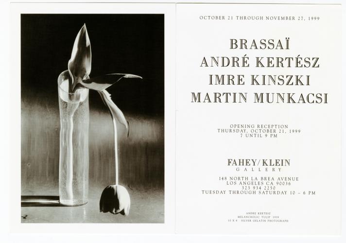 Brassaï / André Kertész / Imre Kinszki / Martin Munkacsi