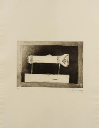 Jasper Johns, Flashlight, 1st Etching, 2nd State