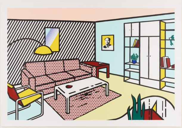 Roy Lichtenstein, Modern Room, Lithograph, woodcut and screenprint