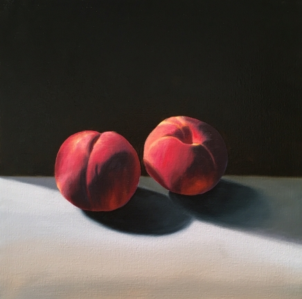 Bruce Cohen, Two Peaches, Oil on canvas