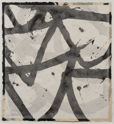 Marc Katano, Silver I, Acrylic and ink on Nepalese paper