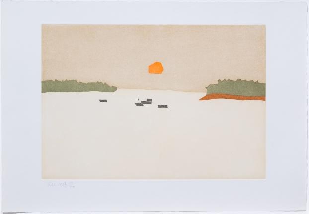 Alex Katz, Sunset Cove, from Small Cuts, 2008