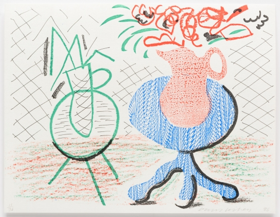 David Hockney, Jug on a Table, March 1986