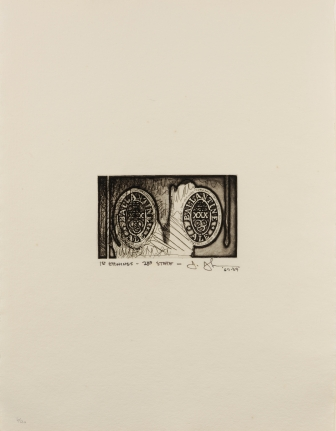 Jasper Johns, Ale Cans, Etching