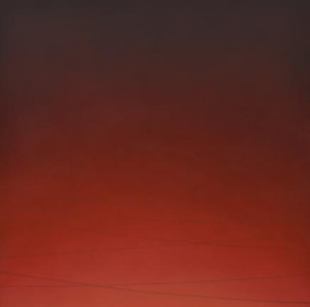Alex Weinstein, Green Flash, Oil and graphite on canvas