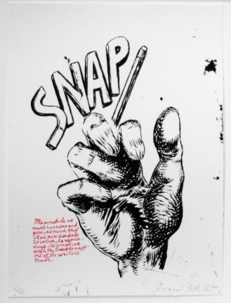 Raymond Pettibon, Plots on Loan, Lithograph
