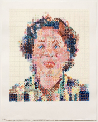 Chuck Close, Leslie, Woodcut