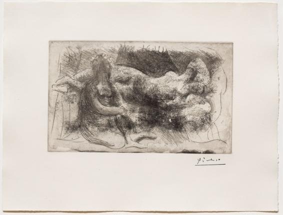 Pablo Picasso, FeFemme Assise et Femme Etendue (Dormeuse Veillee par une Femme Allongee), Etching