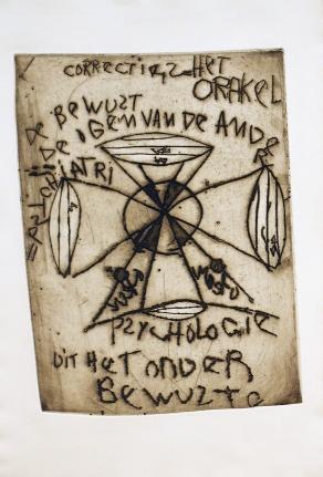 """Anton Heyboer, Untitled, from """"Geh durch den Spiegel,"""" Plate 5"""