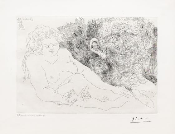 Pablo Picasso, Vieux Peintre, 156 series, Etching