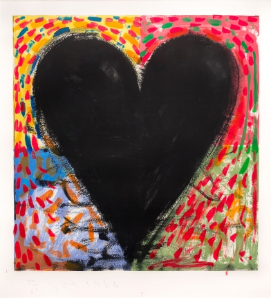 Jim Dine, Hand Painting on the Mandala, 1986, Engraving, drypoint and hand-coloring, Pop Art