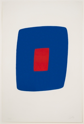 Ellsworth Kelly, Dark Blue with Red, 1964-65
