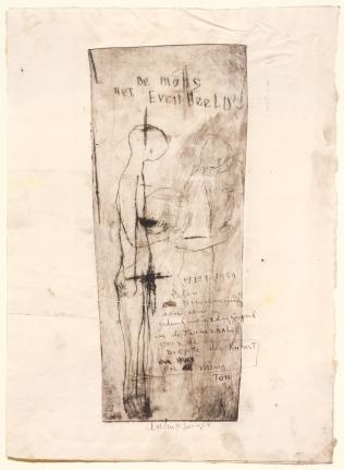 Anton Heyboer, De Mens Het Evenbeeld, Etching