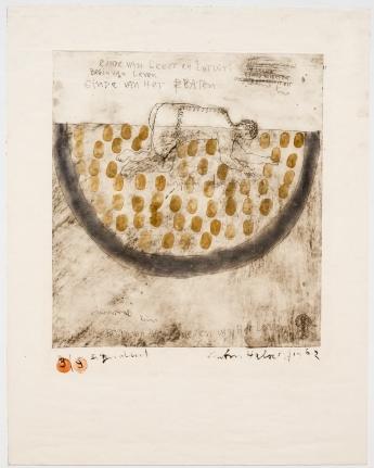 Anton Heyboer, Beginning of Life, Etching and aquatint