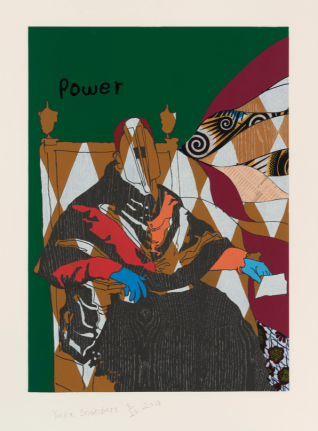 Yinka Shonibare, Power, from Unstructured Icons, 2018, Relief print