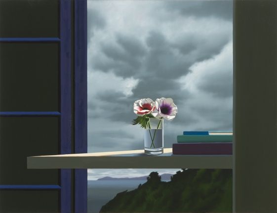 Anemones Against Gray Sky, Bruce Cohen, Painting, Oil on canvas, Still life