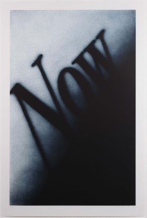 Ed Ruscha, Now, 1990, Lithograph
