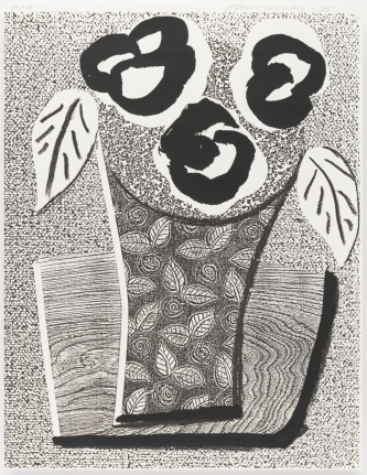 David Hockney, Three Black Flowers, May 1986, Print, Edition