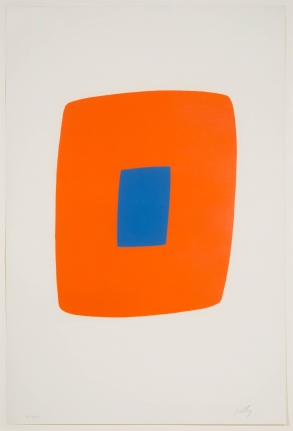 Ellsworth Kelly, Orange with Blue