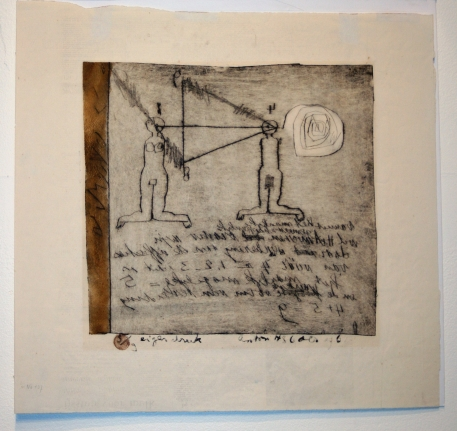 Anton Heyboer, Figure Composition, Drypoint and aquatint