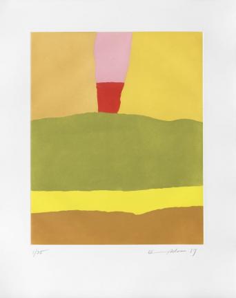 Etel Adnan, Soleil Lointain (Distant Sun), 2017, etching