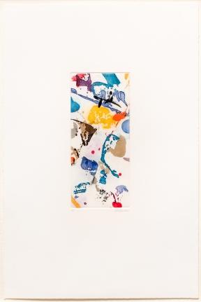 Sam Francis, Untitled,1986, Aquatint, Signed, Print