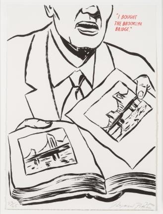 Raymond Pettibon, Plots on Loan, Lithograph