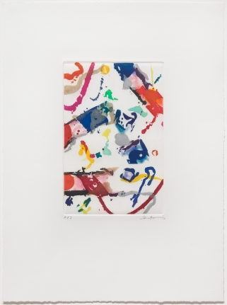 Sam Francis, Untitled 1990, Signed aquatint print