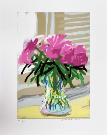 David Hockney, Untitled (no. 535), June 29, 2009, iPhone drawing
