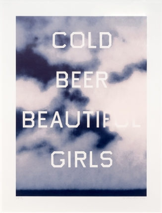 Ed Ruscha, Cold Beer Beautiful Girls, Lithograph