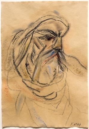 R.B. Kitaj, After Delacroix's Michelangelo, Drawing
