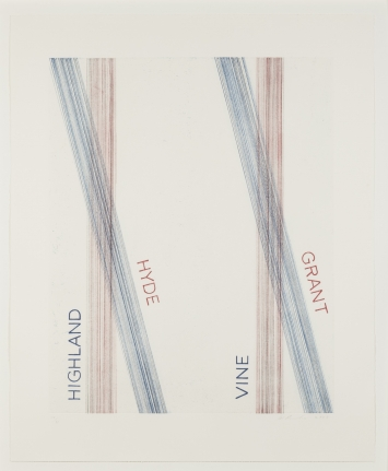 Ed Ruscha, L.A.S.F. #2, 2003 etching